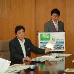 積水ハウス、INAXが斉藤環境大臣に環境保全活動の進ちょく状況を報告